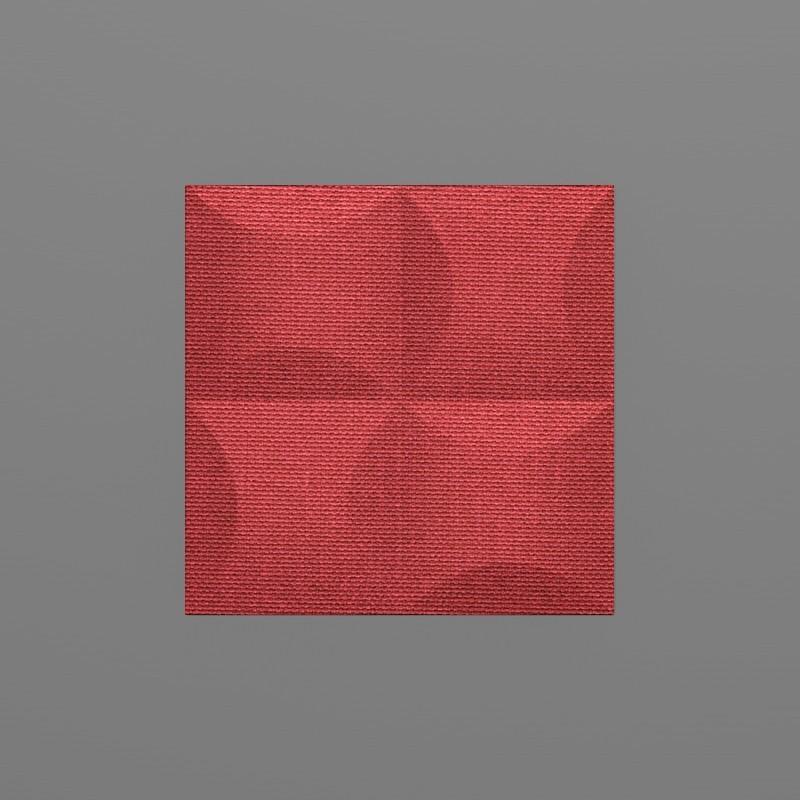 Blancas-32 Alizarin piros 3D falpanel