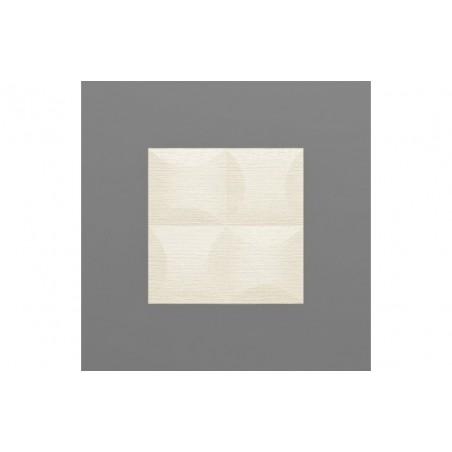 Blancas-37 Hermelin fehér 3D falpanel