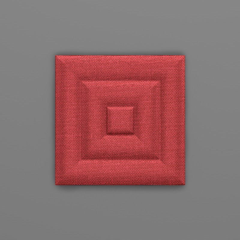 Cayambe-32 Alizarin piros 3D falpanel