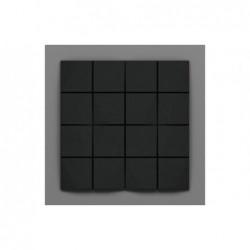 Cabaray-2 Éjsötét fekete 3D falpanel