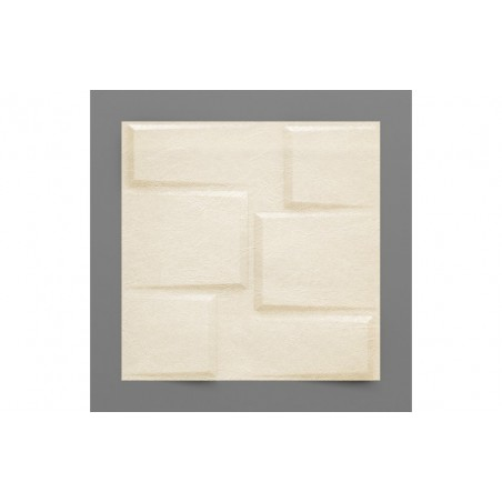 Bonete-16 Casablanca fehér 3D falpanel