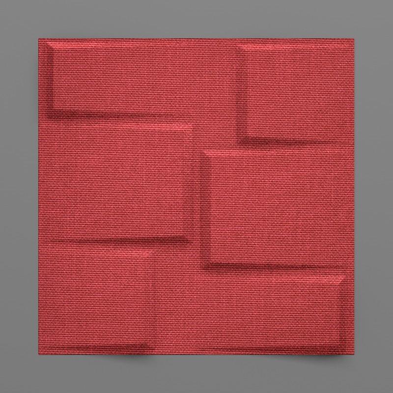 Bonete-32 Alizarin piros 3D falpanel