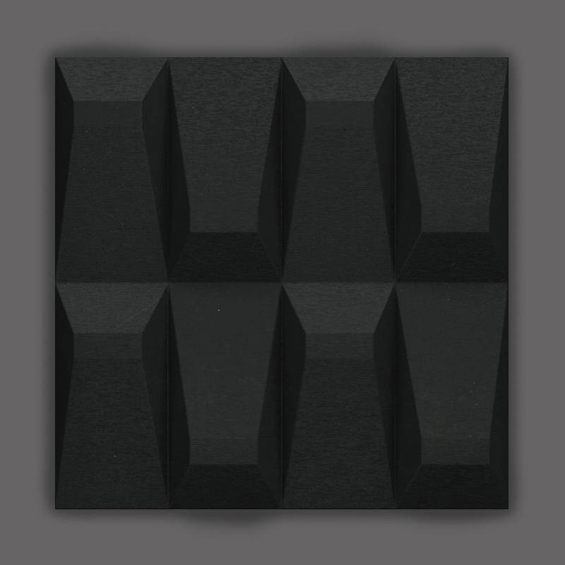 Galeras-2 Éjsötét fekete 3D falpanel