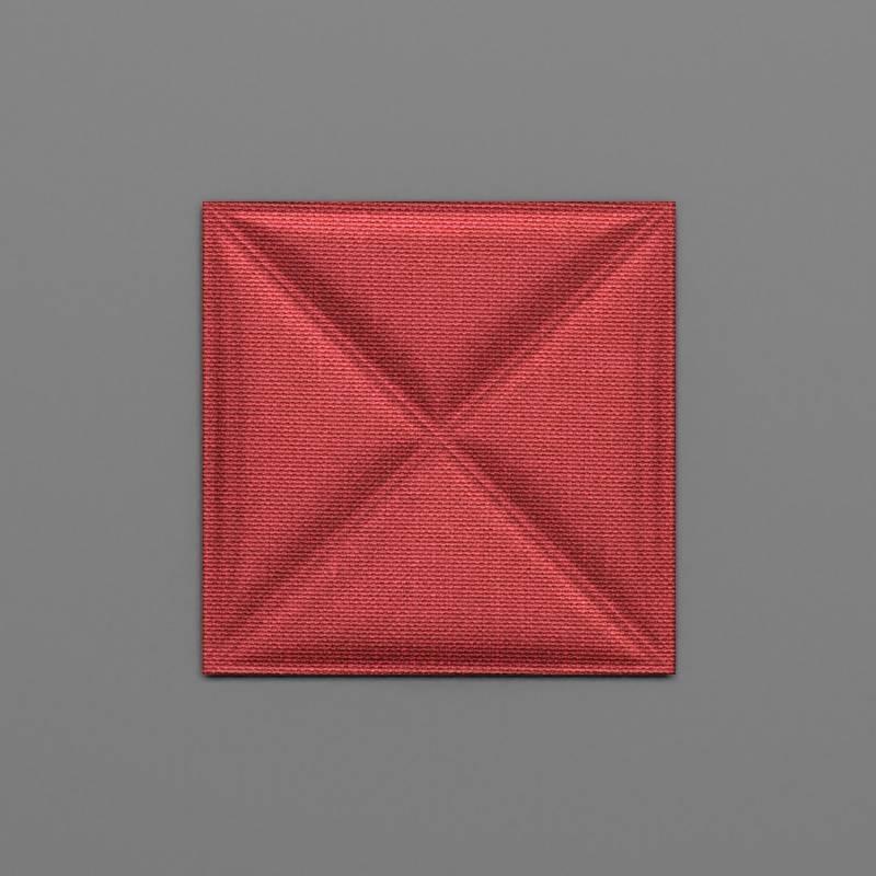 Montserrat-32 Alizarin piros 3D falpanel
